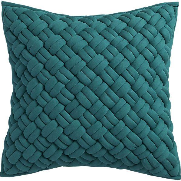 Jersey Interknit Green20 Quot Pillow With Down Alternative