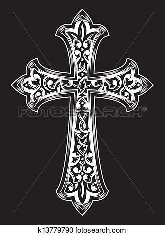 antique christian cross vector clipart dise os y dibujos pinterest kreuz tattoo tattoo. Black Bedroom Furniture Sets. Home Design Ideas