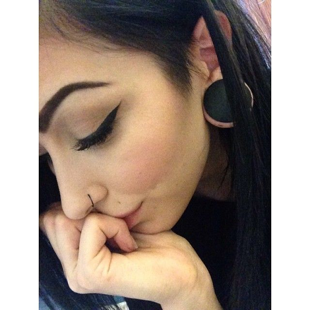 Stretched Ears And Nose Piercing Cosmetic Inspiration Piercings