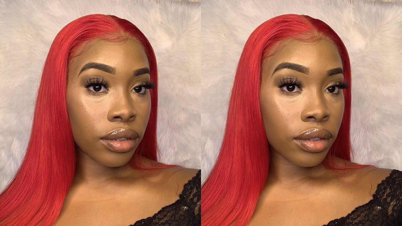 Aaliyah Jay Inspired Red Watercolor Method Wig Install