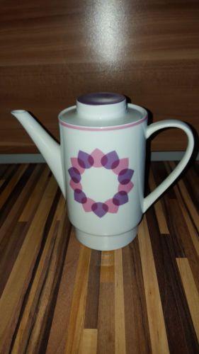 1713dfff1a7 Kaffeeservice-Melitta-Dekor-Rosa-Herzen-Tassen-Zuckerpott-Milchkaennchen