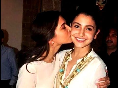 Deepika Padukone Plants A Kiss On Anushka Sharmas Cheek Anushka