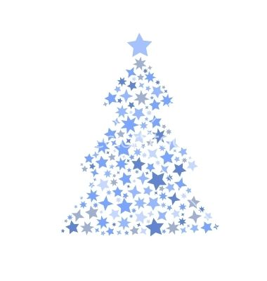 symbol silhouette of christmas tree stars vector 1720683 by campincool on vectorstock - Christmas Tree Stars