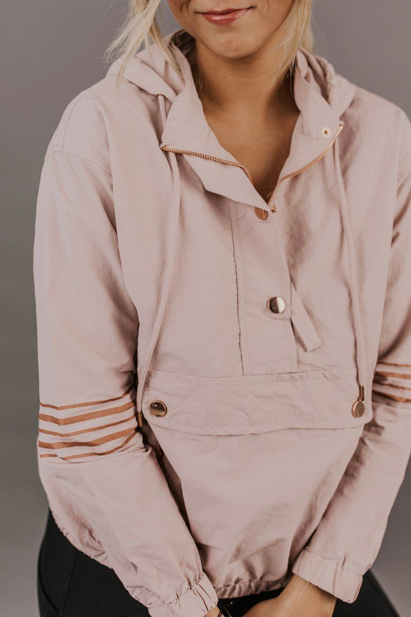 Jackets for women winter warm coat style. Rain jacket casual outfit ideas.  Dusty light pink cute jacket with hood inspiration.  3190bba9d203