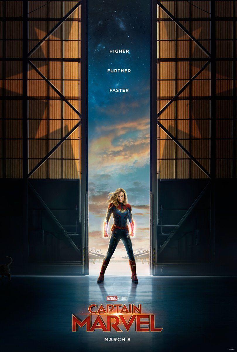 "Captain Marvel Movie Poster Brie Larson 13x20/"" 24x36/"" 27x40/"" 32x48/"" Art Print"