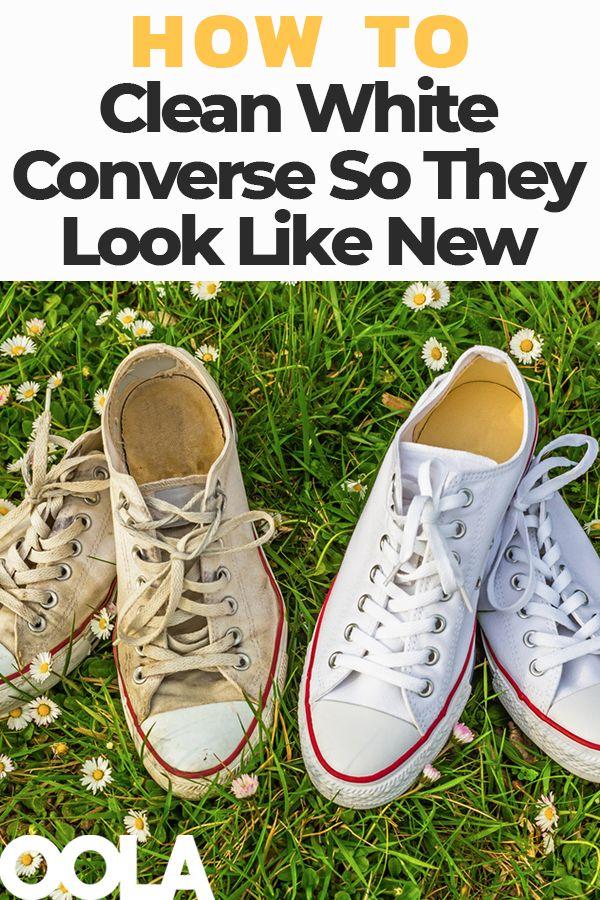 So reinigen Sie White Converse, damit sie wie neu aussehen   – Smarty Pants