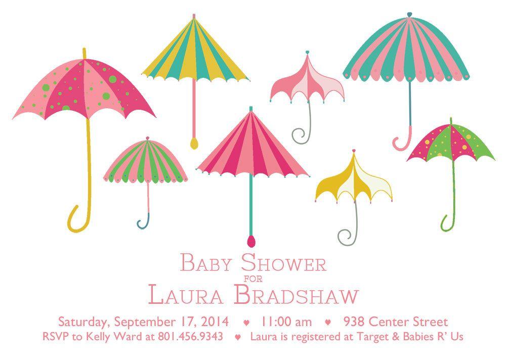 Umbrella Printable Baby Shower Invitation. $10.50, via Etsy ...