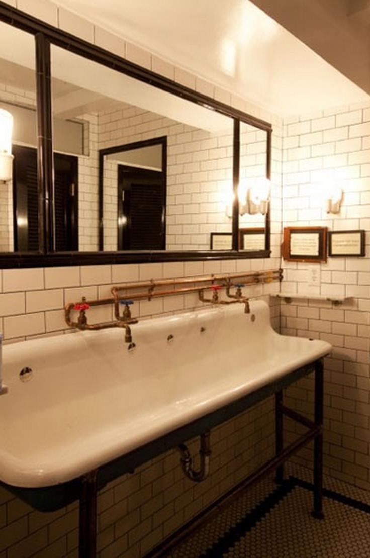 1 tol izlietne pinterest ba os restaurante y cantinas for Banos vintage industrial