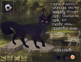 Ravenkit Of Shadowclan Bryniel by Viofey Warrior cats
