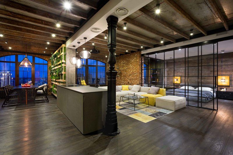 Modern Industrial Loft Apartment In Ukraine Loft Apartment