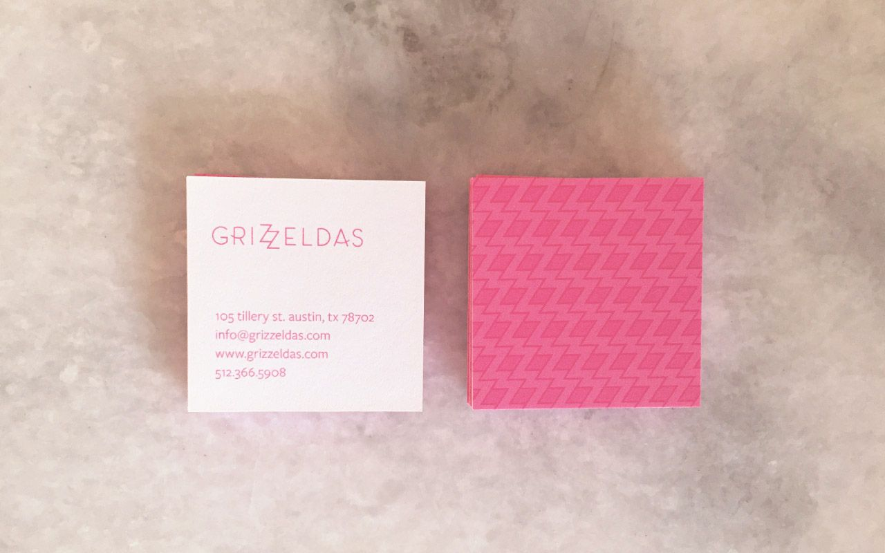 Grizzeldas ATX MEX | Restaurant Branding, Business Card Design ...