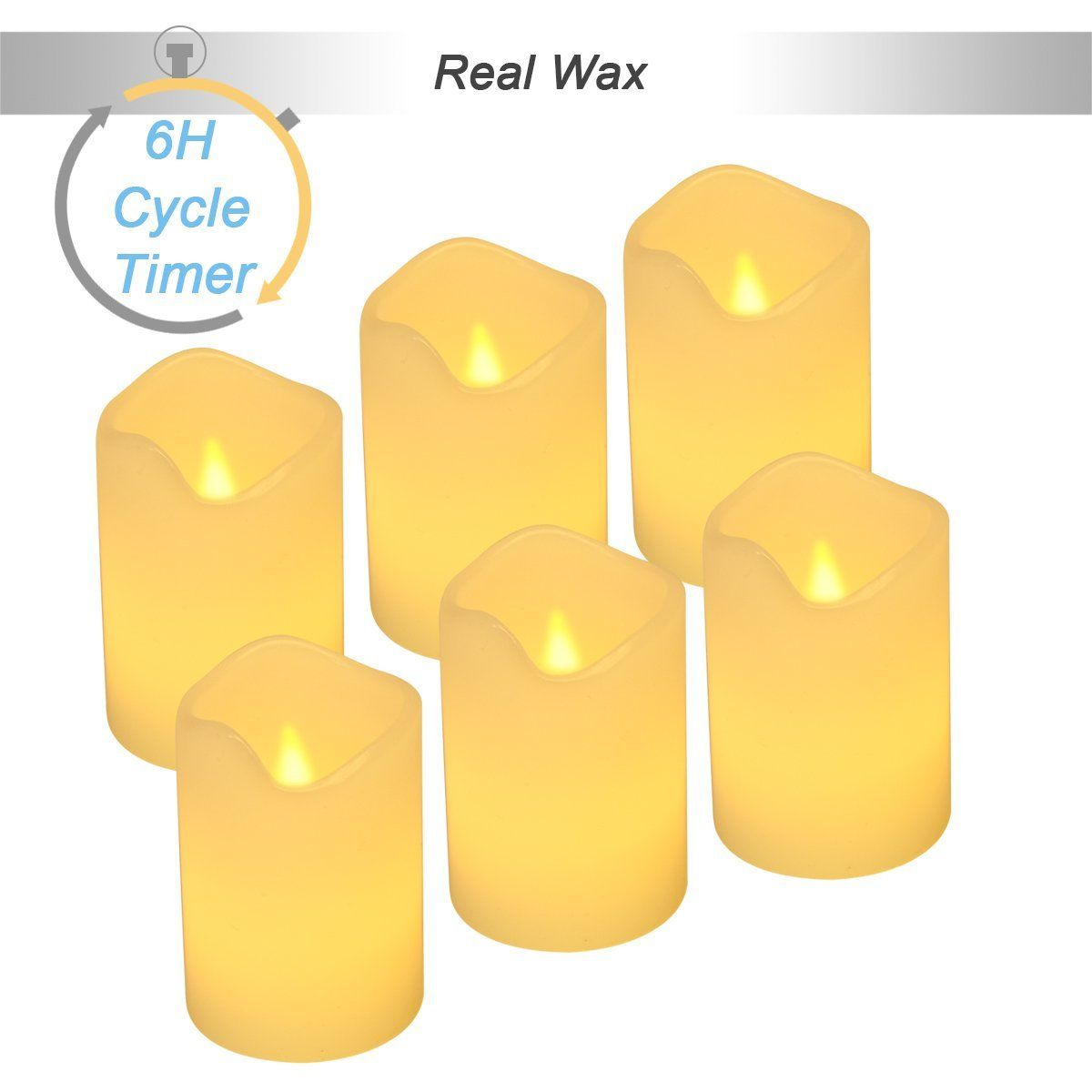 Flameless Votive Candles Real Wax 6H Timerflickering Real Wax Flameless Tealights Candles