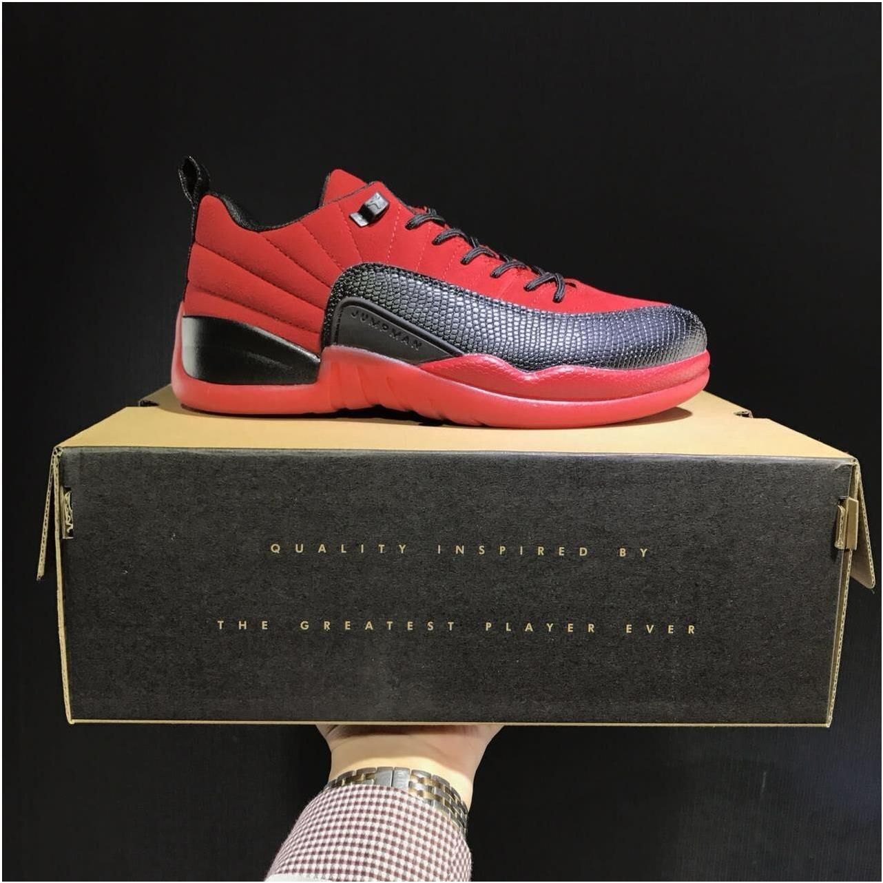 744c677ed Nike Air Jordan Retro XII 12 Low Red Black Men Shoes 3083170 ...