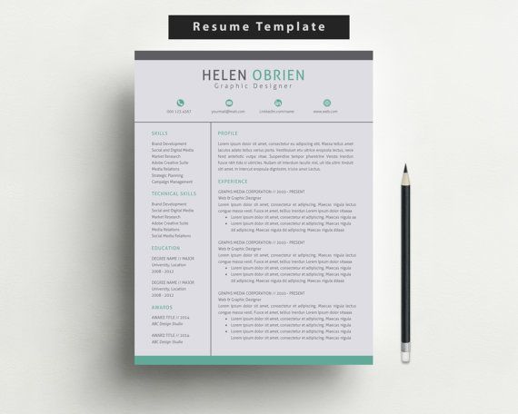 Resume Template/Free Cover Letter and Reference by ResumeBook