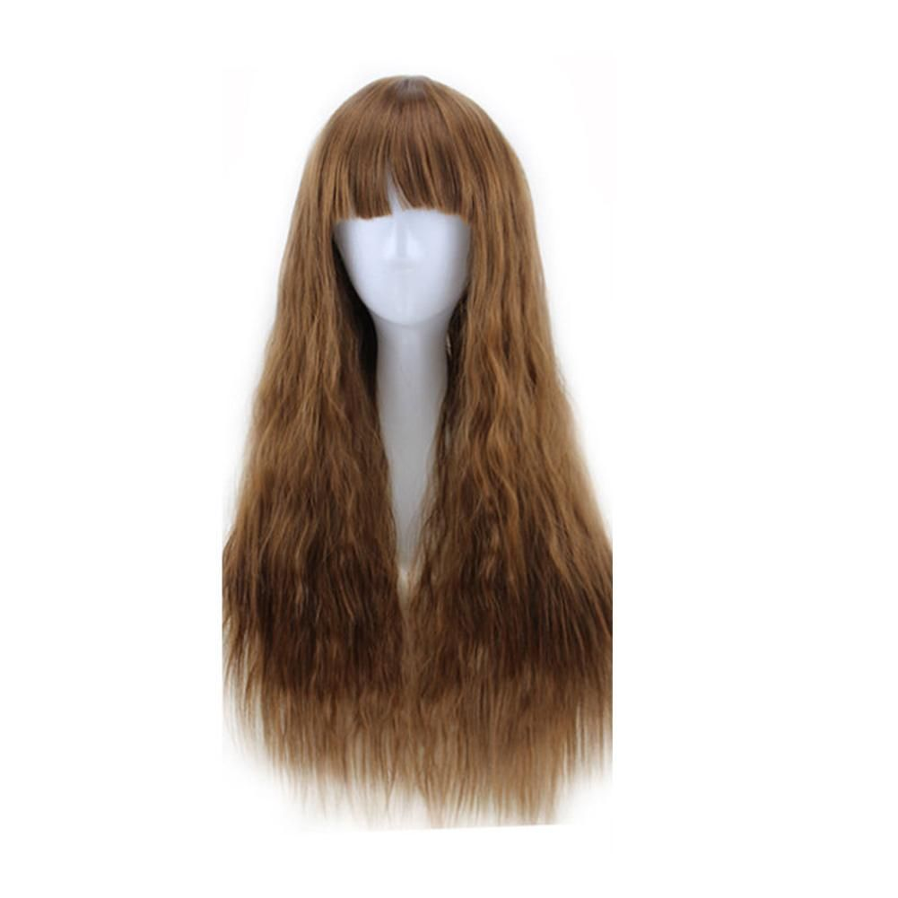 Photo of 65cm Women Long Curly Wavy Hair Full Wig Fashion Costume Party Anime Cosplay – Light Brown