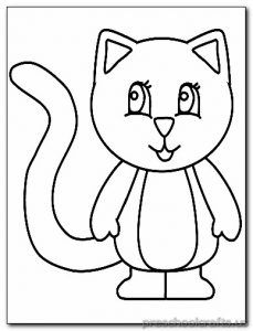 Kitten Coloring Pages Preschool And Kindergarten Cat Coloring Page Coloring Pages Preschool Coloring Pages