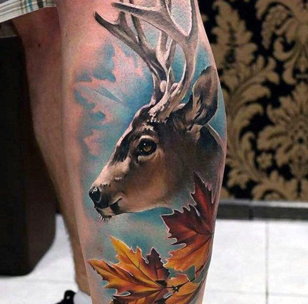 Top 87 Deer Tattoo Ideas 2020 Inspiration Guide Deer Head Tattoo Hunting Tattoos Deer Tattoo Designs