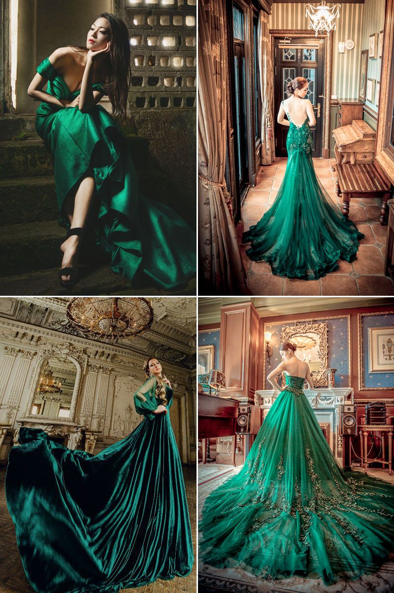 Fall's Must-Have Wedding Look - 24 Gorgeous Jewel Toned Gowns