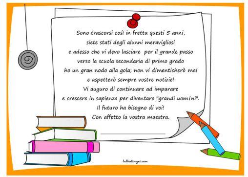 Frasi Di Fine Anno Scolastico Per Bambini