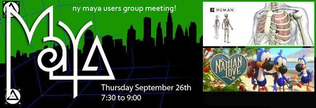 NY Maya Users Group: Maya Users Group Meeting : Nathan Love & Bio Digital