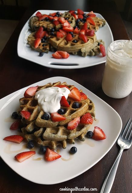 Red, White and Blueberry Waffles from Cooking with Carlee