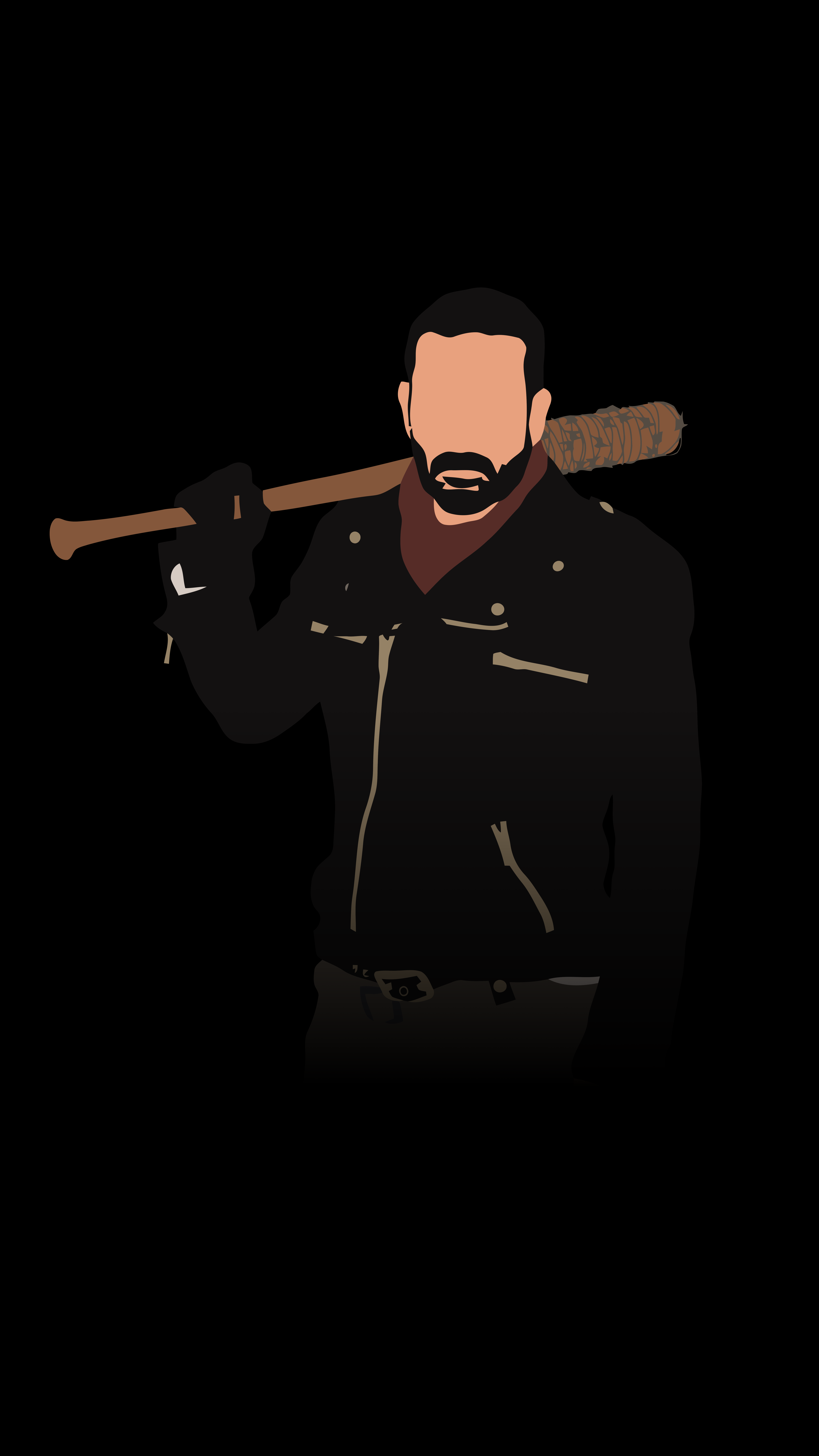 Negan From The Walking Dead 5625x10000 Amoledbackgrounds Walking Dead Wallpaper The Walking Dead Poster Walking Dead Art