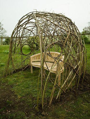 Living Willow Seat Shelter Dorset By Tim Johnson Dat