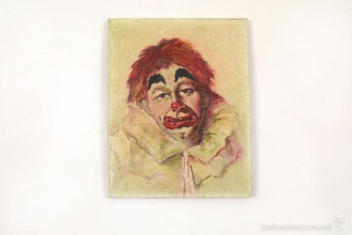 Pintura Original Retrato Payaso Triste, Oleo Payaso, Oleo