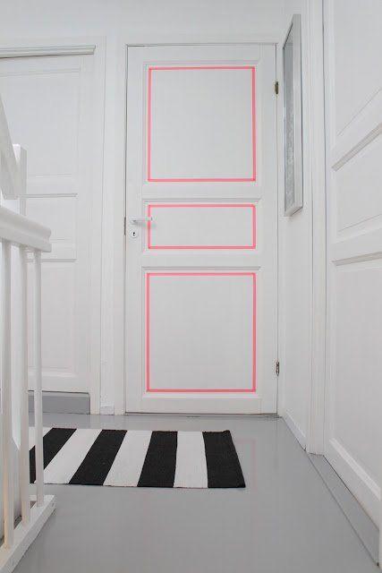 10 idées pour décorer une porte - couleur des portes interieur