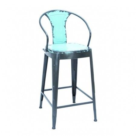 Blue Factory Industrial Bar Stool Bar Chair Stool metal