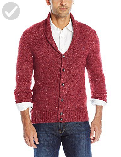 Original Penguin Men's Lambswool Blend Shawl Collar Cardigan ...