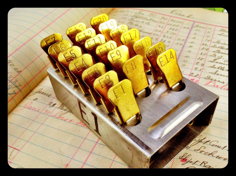 Brass Laundry Pin Set