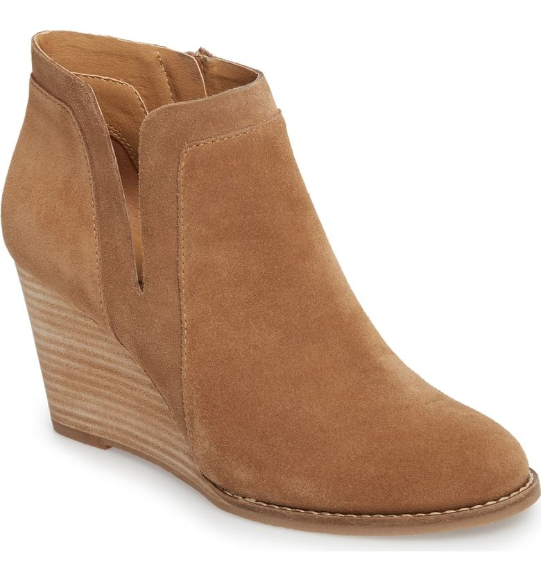f26c4213360 Yabba Wedge Bootie, Main, color, Sesame Suede | Fashion - Shoes ...