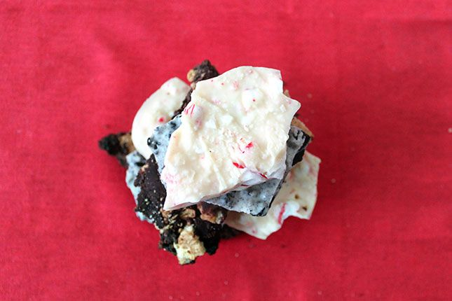 Presenting the Bark Trifecta: Peppermint, Cookies & Cream and S'mores | Brit + Co.
