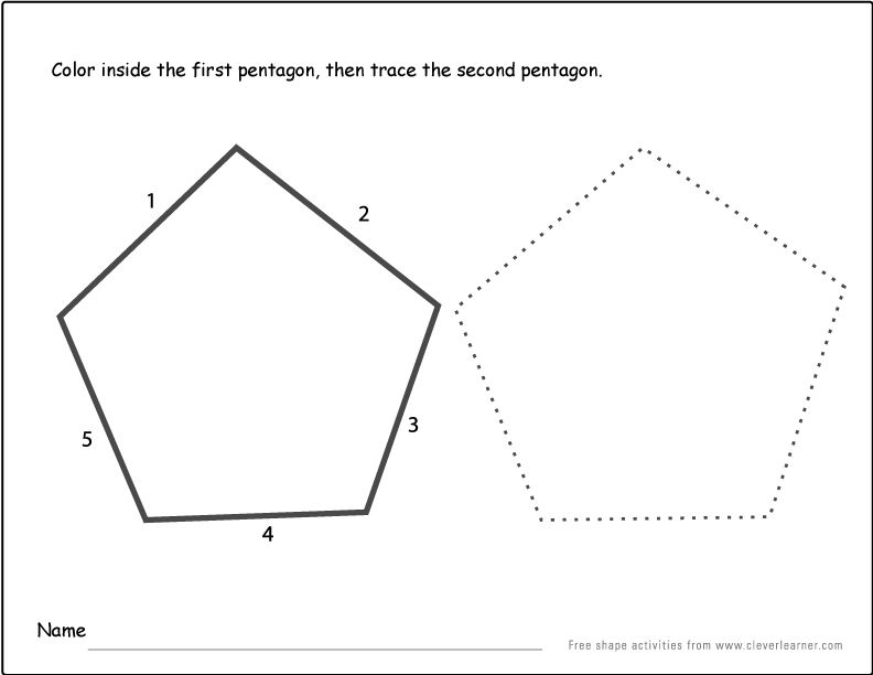 Pentagon Shape Activity 1 In 2020 Shapes Activities Pentagon Shape Pentagon Preschool pentagon shape worksheets