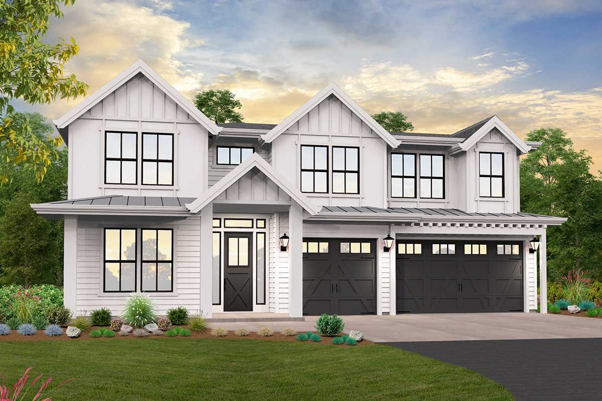 Plan 85272MS: Exclusive Modern Farmhouse Plan with Vaulted ...