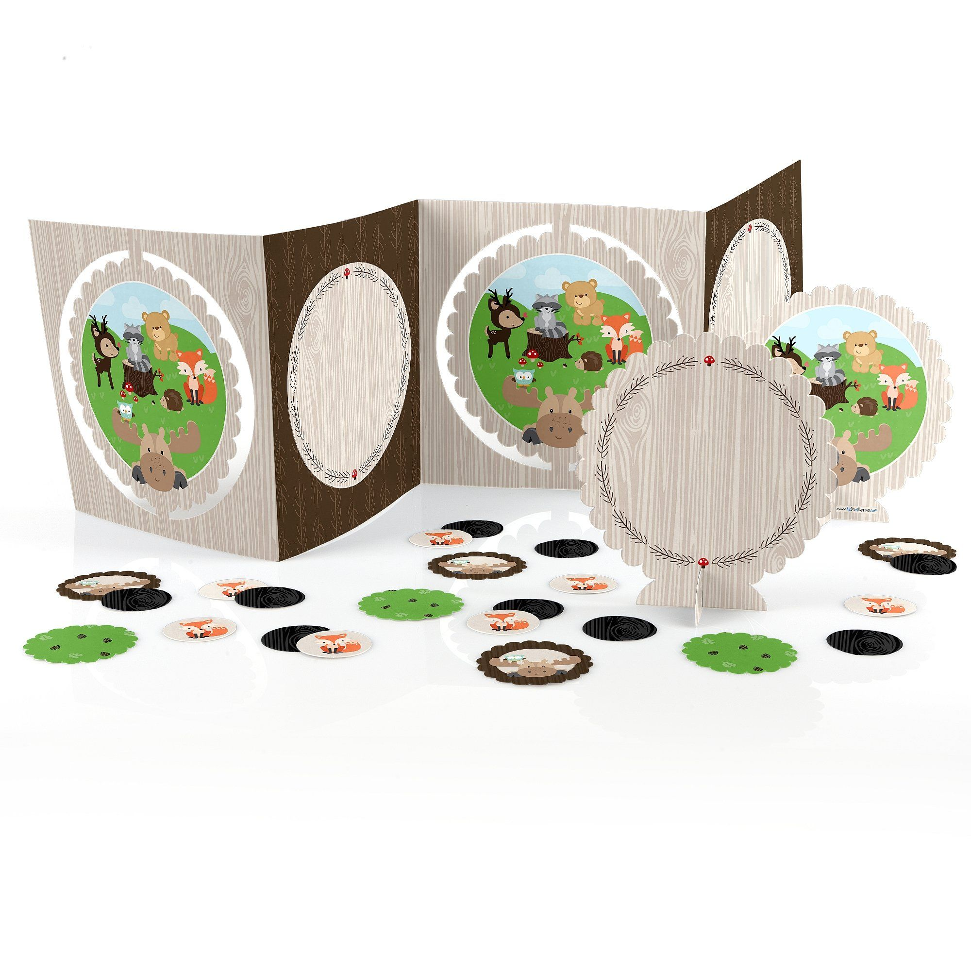 Amazon.com: Woodland Creatures - Party Table Decorating Kit - 27 Count - $19
