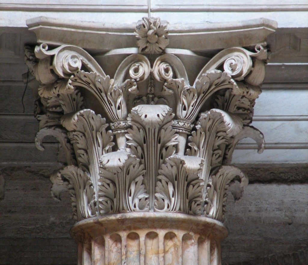 Corinthian Capital From The Pantheon Note The Pronounced