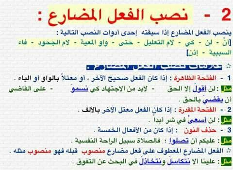 اللغة العربية نصب الفعل المضارع Arabic Language Learn Arabic Language Arabic Langauge