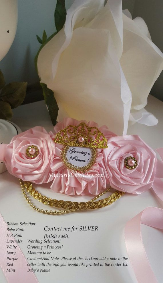06c2eaec6be Princess Mommy to be Sash Princess Maternity by MyCurlyLove