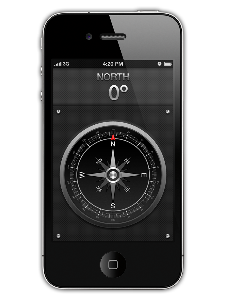 Compass App GUI concept Design for iPhone