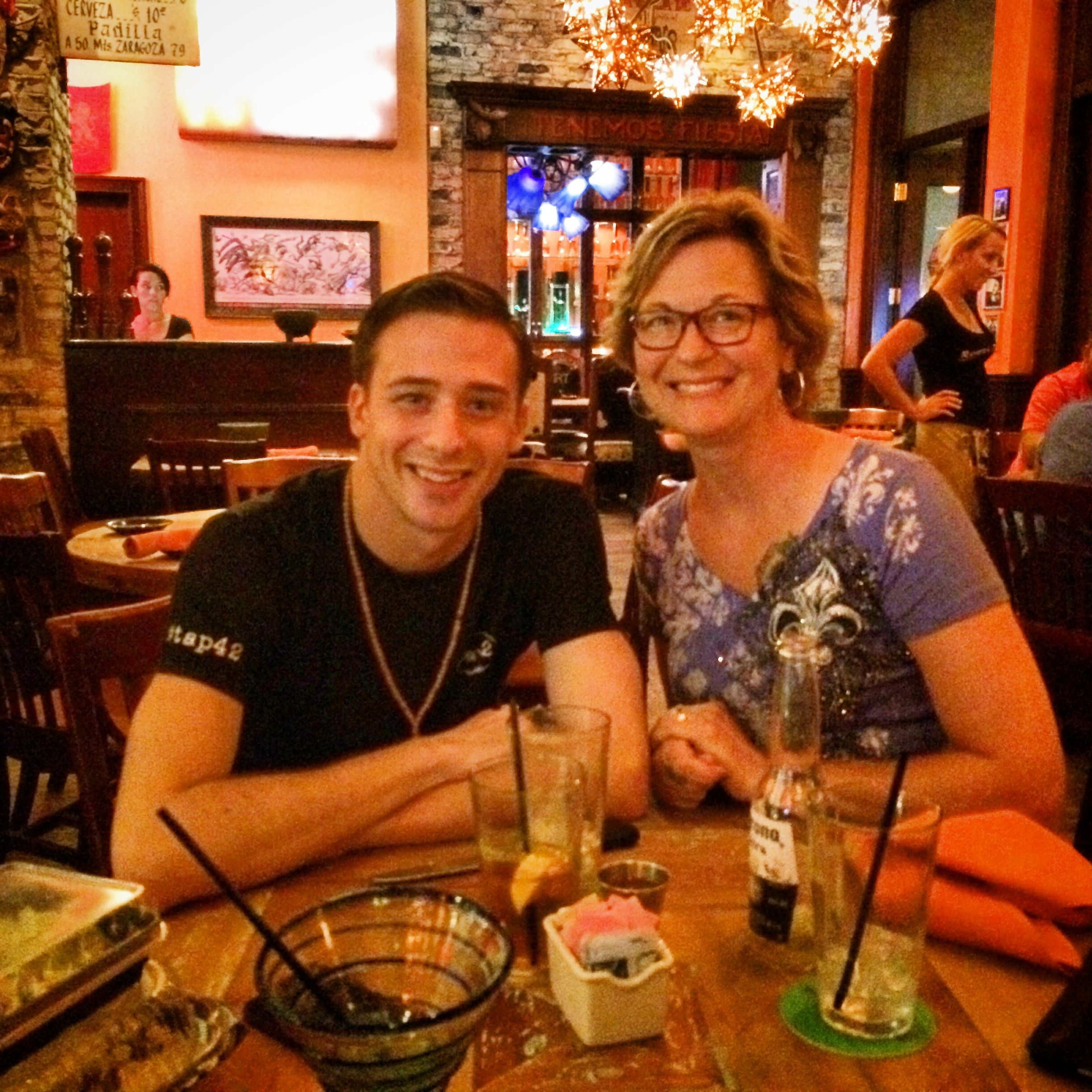 Bobby and me at a Mexican Restaurant on Las Olas Boulevard