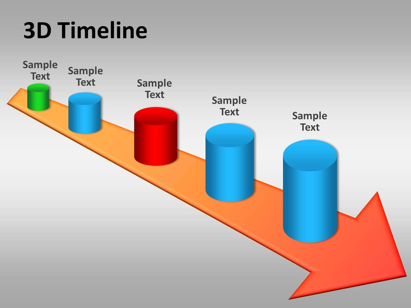 3d timeline powerpoint template is a free timeline template design, Modern powerpoint