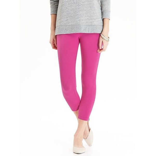 Old Navy Womens Cropped Fashion Leggings ($8.97) ❤ liked on Polyvore