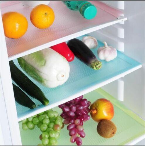 4X Refrigerator Fridge Mat Pad Drawer Liners Washable