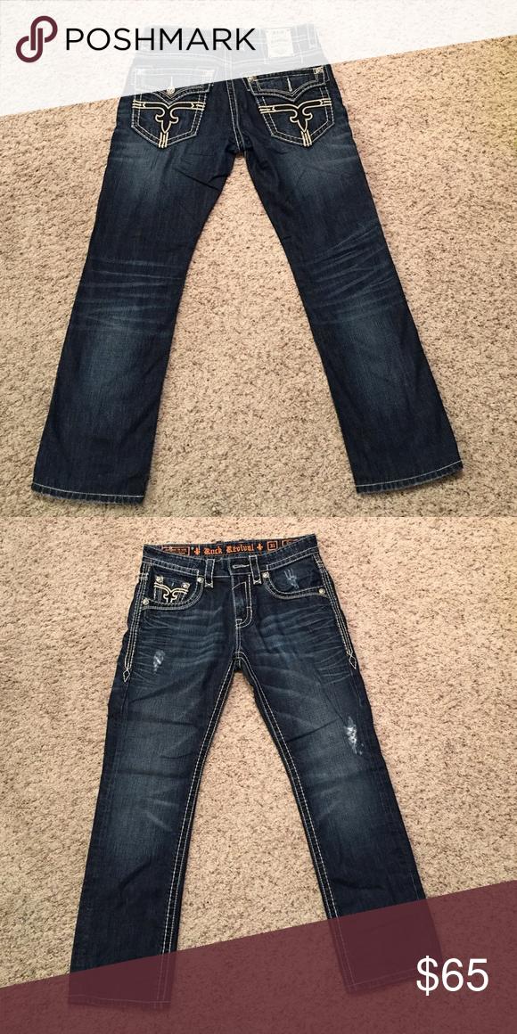 Rock Revival Straight leg Hemmed size 31x30 Rock Revival Jeans Slim Straight