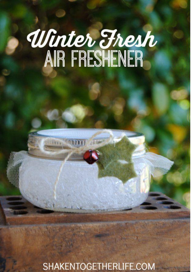Winter Fresh Air Freshener | 9 DIY Air Freshener Ideas | Natural & Easy Homemade Air Freshener Recipes by DIY Ready at http://diyready.com/9-diy-air-freshener-ideas/