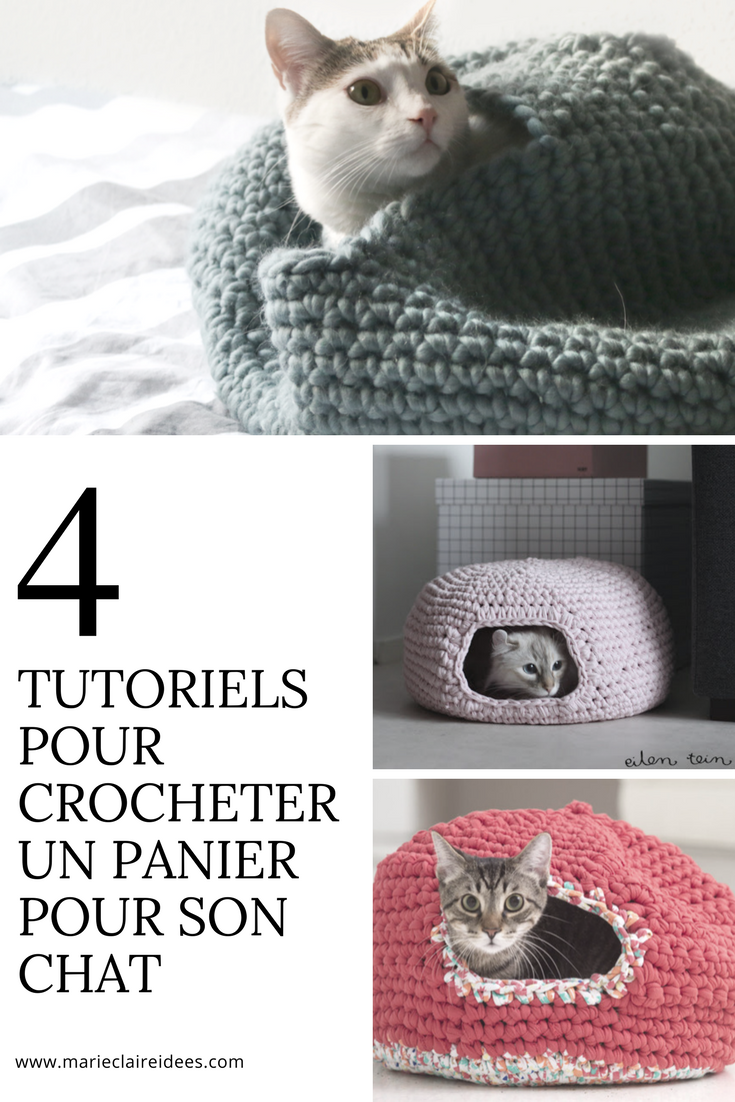 4 tutoriels gratuits pour crocheter un panier pour son chat ...