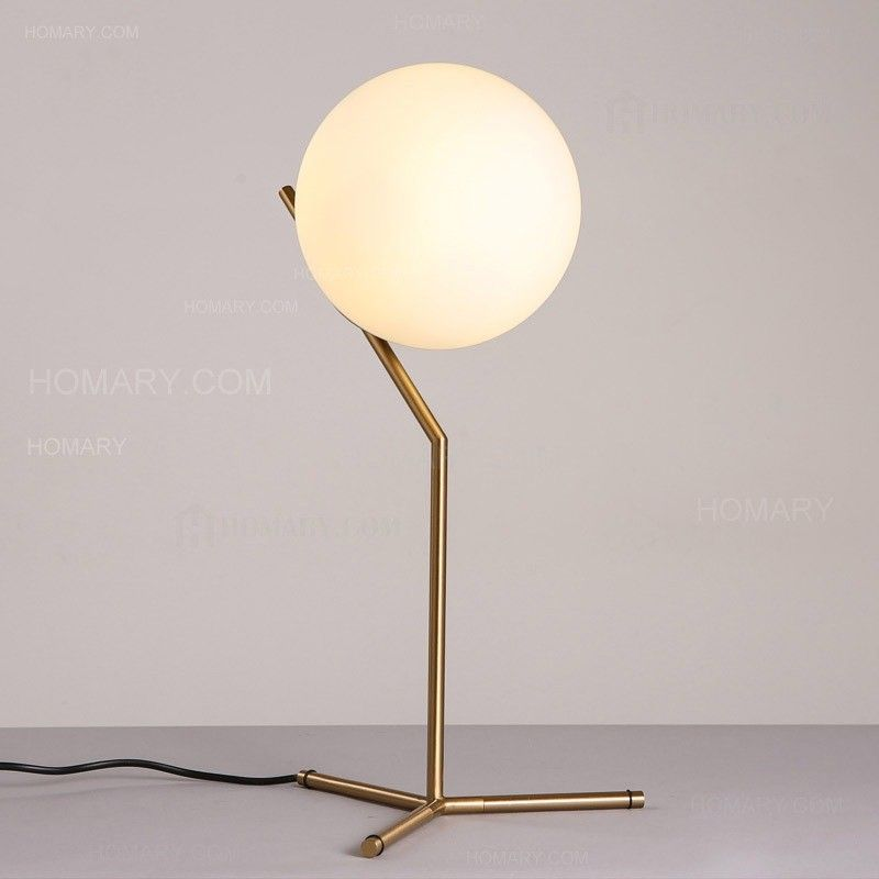 Cattel Modern White Globe 1 Light Creative Table Lamp Glass Metal In Brass Modern Glass Table Lamps Glass Table Lamp Home Lighting Design
