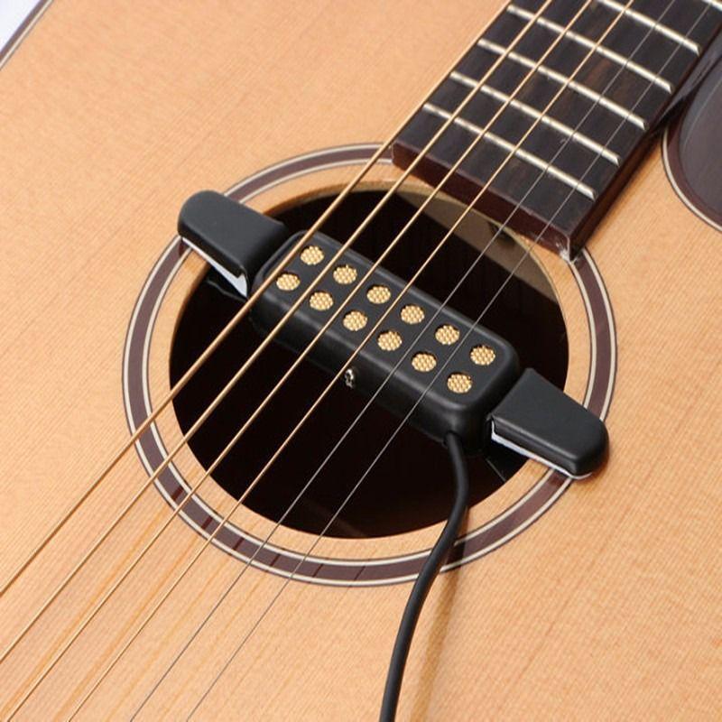 Classic Acoustic Guitar Pickup Transducer Amplifier Guitar Pickup Soundhole Pickup For Guitar Parts Accessories Low Noise Guitar Guitar Pickups Acoustic Guitar